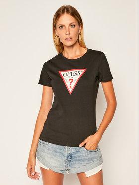 Guess Guess Póló Triangle Logo W0YI57 K8HM0 Fekete Regular Fit