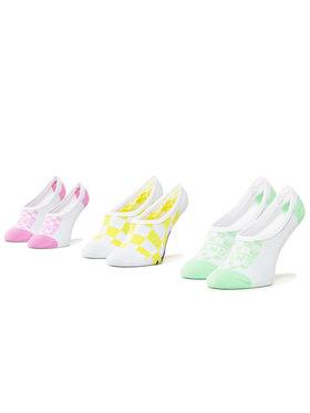 Vans Vans Set de 3 perechi de șosete scurte pentru copii Rain Cano VN0A4DSQ4481 r.31.5-36 Alb