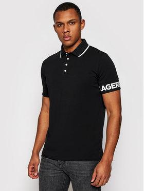 KARL LAGERFELD KARL LAGERFELD Тениска с яка и копчета 745018 511221 Черен Regular Fit