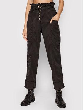 Pinko Pinko Bavlnené nohavice Botanica 1N137D Y7M5 Čierna Regular Fit