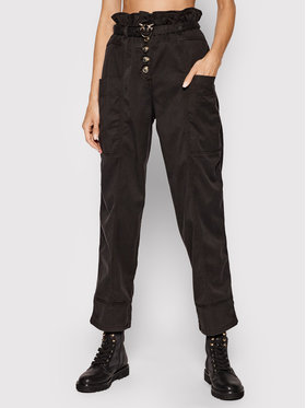 Pinko Pinko Текстилни панталони Botanica 1N137D Y7M5 Черен Regular Fit