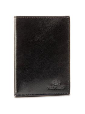 Wittchen Wittchen Veľká pánska peňaženka 21-1-020-10 Čierna
