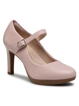 Clarks Clarks Pantofi Ambyr Shine 261578604 Roz