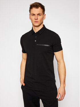 Armani Exchange Armani Exchange Polo 3KZFHA ZJE6Z 1200 Czarny Regular Fit