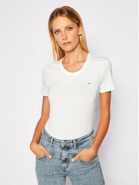 Tommy Jeans Tommy Jeans T-Shirt DW0DW09102 Biały Regular Fit
