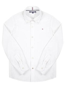 Tommy Hilfiger Tommy Hilfiger Koszula Boys Stretch Oxford Shirt L/S KB0KB03968 Biały Slim Fit
