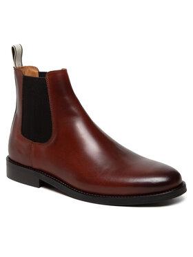 Gant Gant Kotníková obuv s elastickým prvkem Sharpville 23651210 Hnědá