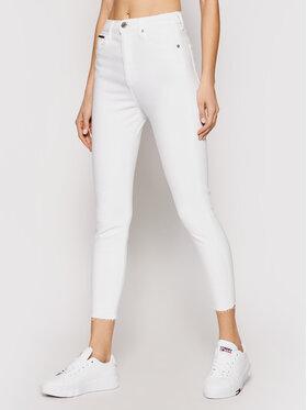 Tommy Jeans Tommy Jeans Jeansy Sylvia DW0DW09550 Biały Skinny Fit
