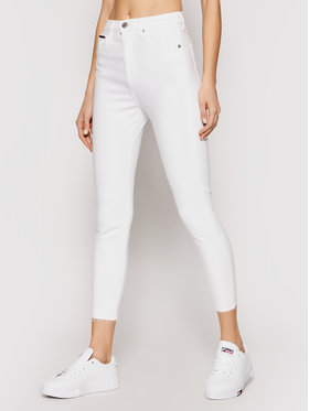 Tommy Jeans Tommy Jeans Τζιν Sylvia DW0DW09550 Λευκό Skinny Fit