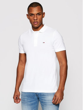 Tommy Jeans Tommy Jeans Polo Classics Solid DM0DM09439 Bianco Slim Fit