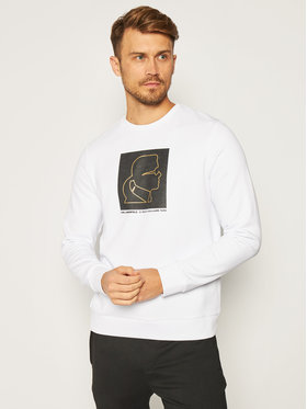 KARL LAGERFELD KARL LAGERFELD Mikina Sweat 705013 502900 Bílá Regular Fit