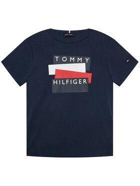 TOMMY HILFIGER TOMMY HILFIGER T-Shirt Sticker Tee S/S KB0KB05849 D Dunkelblau Regular Fit