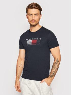Tommy Hilfiger Tommy Hilfiger T-Shirt Fade Graphic Corp MW0MW21008 Tmavomodrá Regular Fit