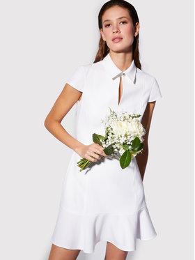 Morgan Morgan Košilové šaty 211-RCARRY Bílá Slim Fit