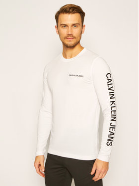 Calvin Klein Jeans Calvin Klein Jeans Tričko J30J316884 Biela Regular Fit