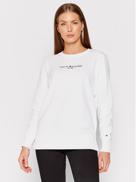 Tommy Hilfiger Tommy Hilfiger Μπλούζα Essential WW0WW28220 Λευκό Loose Fit