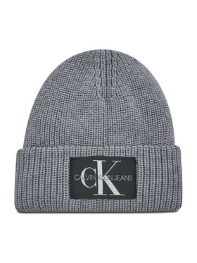Calvin Klein Jeans Calvin Klein Jeans Čiapka Monogram Beanie Wl K50K506242 Sivá