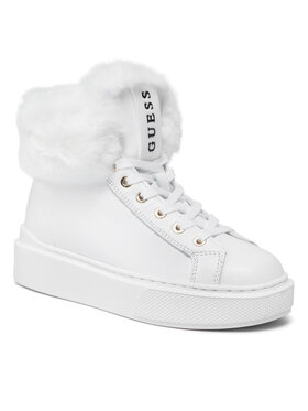 Guess Guess Sneakersy FL8HIS LEA12 Biela