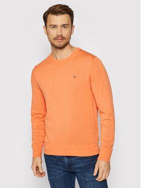 Tommy Hilfiger Tommy Hilfiger Sweter Blend MW0MW15431 Pomarańczowy Regular Fit