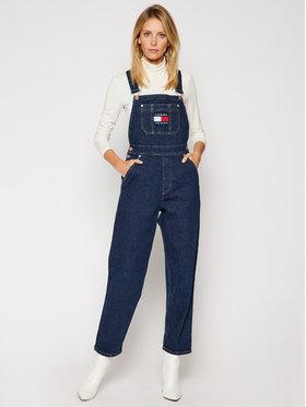Tommy Jeans Tommy Jeans Kelnės su petnešomis Dungaree Oldbcf DW0DW09422 Tamsiai mėlyna Regular Fit