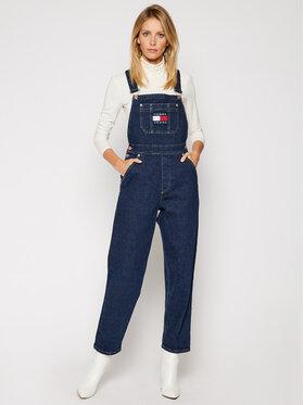Tommy Jeans Tommy Jeans Nohavice na traky Dungaree Oldbcf DW0DW09422 Tmavomodrá Regular Fit