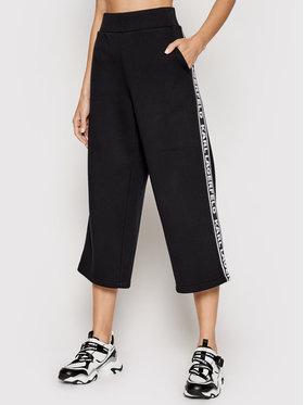 KARL LAGERFELD KARL LAGERFELD Spodnie dresowe Logo Tape 211W1062 Czarny Regular Fit