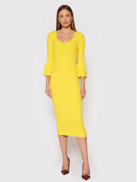 TWINSET TWINSET Úpletové šaty 212TP3115 Žlutá Slim Fit