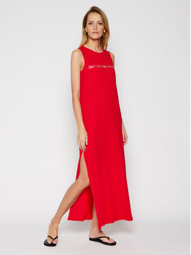 Emporio Armani Emporio Armani Плажна рокля 262635 1P340 33874 Червен Regular Fit
