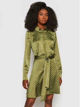 Guess Guess Sukienka koszulowa Agata W1YK0X WD8G0 Zielony Regular Fit