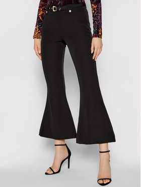 Versace Jeans Couture Versace Jeans Couture Pantalon en tissu Flared 71HAA111 Noir Regular Fit