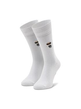KARL LAGERFELD KARL LAGERFELD Чорапи дълги мъжки 805504 511102 Бял