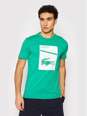 Lacoste Lacoste Marškinėliai TH9654 Žalia Regular Fit