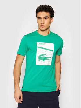 Lacoste Lacoste T-shirt TH9654 Zelena Regular Fit