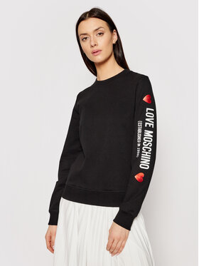 LOVE MOSCHINO LOVE MOSCHINO Sweatshirt W630219E 2180 Noir Regular Fit