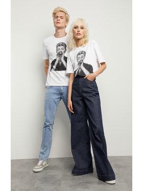 Vistula Vistula T-Shirt Unisex David Bowie By Evans 1 XA1331 Biały Regular Fit