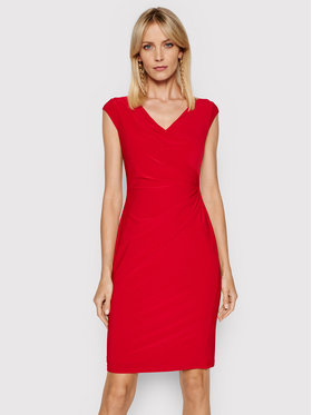 Lauren Ralph Lauren Lauren Ralph Lauren Ежедневна рокля 250793037014 Червен Slim Fit