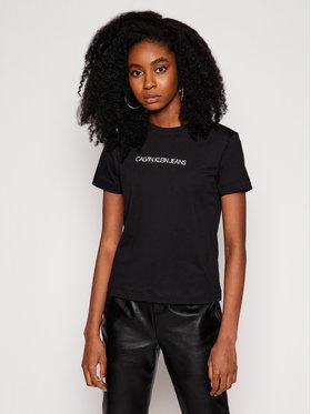 Calvin Klein Jeans Calvin Klein Jeans Póló J20J215322 Fekete Regular Fit