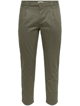 Only & Sons ONLY & SONS Pantaloni di tessuto Cam 22016775 Verde Regular Fit