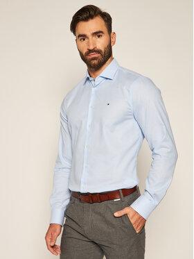 Tommy Hilfiger Tailored Tommy Hilfiger Tailored Košile Dobby TT0TT08319 Modrá Slim Fit