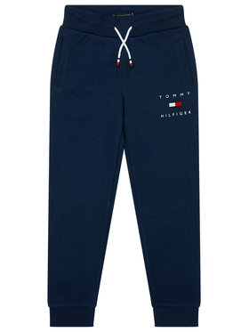 TOMMY HILFIGER TOMMY HILFIGER Παντελόνι φόρμας Logo Sweat KB0KB06168 Σκούρο μπλε Regular Fit