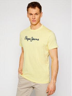 Pepe Jeans Pepe Jeans T-shirt Eggo PM500465 Žuta Regular Fit