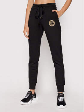 Versace Jeans Couture Versace Jeans Couture Долнище анцуг V-Emblem Foill 71HAAT03 Черен Regular Fit