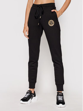 Versace Jeans Couture Versace Jeans Couture Teplákové nohavice V-Emblem Foill 71HAAT03 Čierna Regular Fit