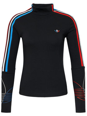 adidas adidas Bluză adicolor Tricolor GN2859 Negru Regular Fit