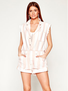 One Teaspoon One Teaspoon Jumpsuit Candy Str Safa Overal 23074 Bianco Relaxed Fit