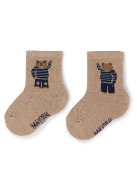 Mayoral Mayoral Vaikiškų ilgų kojinių komplektas (3 poros) 10635 Smėlio