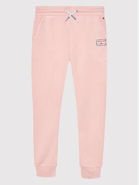 Tommy Hilfiger Tommy Hilfiger Spodnie dresowe Reflective Print KG0KG06005 D Różowy Regular Fit