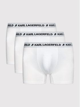 KARL LAGERFELD KARL LAGERFELD Sada 3 kusů boxerek Logo 211M2104 Bílá