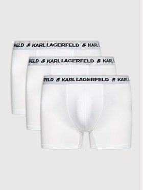KARL LAGERFELD KARL LAGERFELD Súprava 3 kusov boxeriek Logo 211M2104 Biela