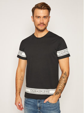 Calvin Klein Jeans Calvin Klein Jeans T-Shirt J30J316048 Μαύρο Regular Fit